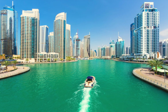 Boat in Dubai Marina