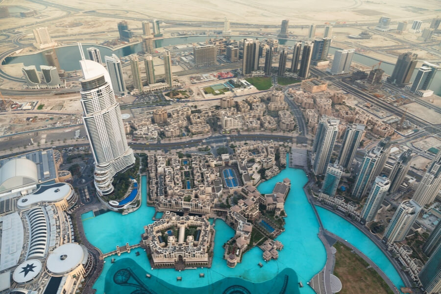 Views from At the Top to Downtown Dubai