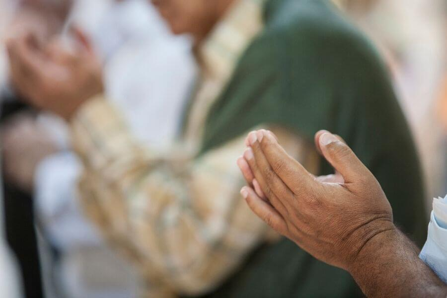 Hands for prayer Muslim