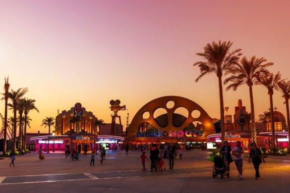 Motiongate Dubai at Sunset
