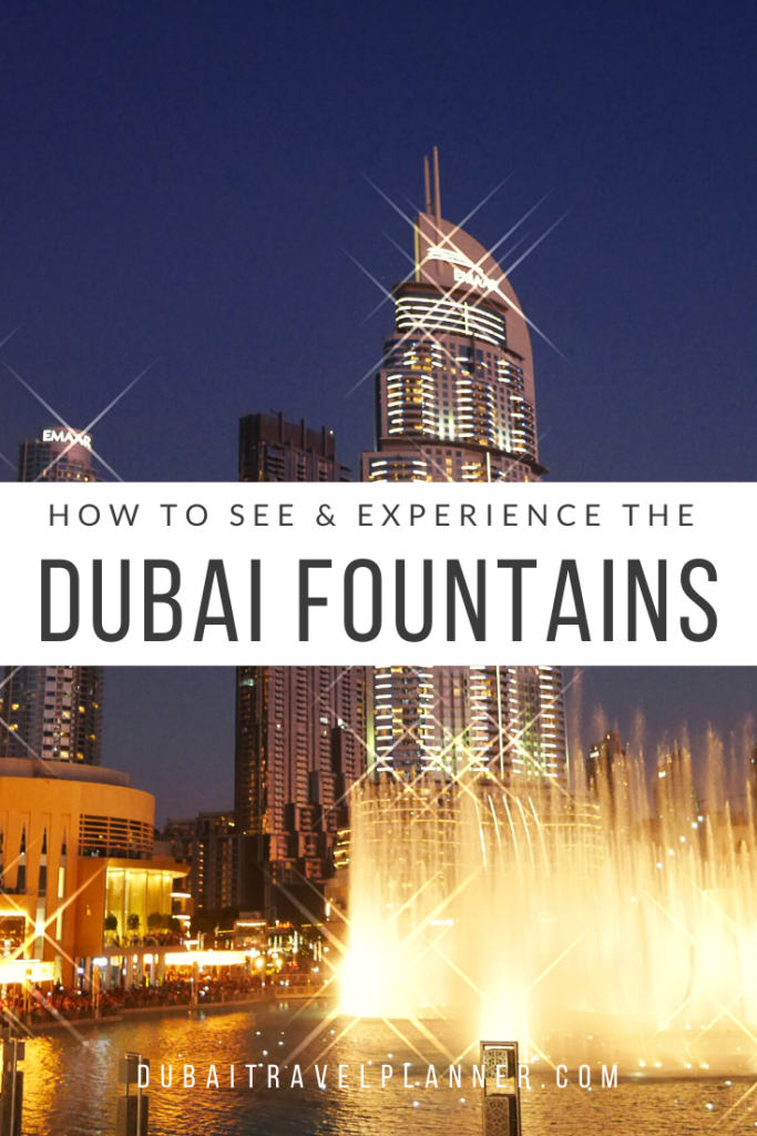 Dubai Fountains - Where to see them and timing