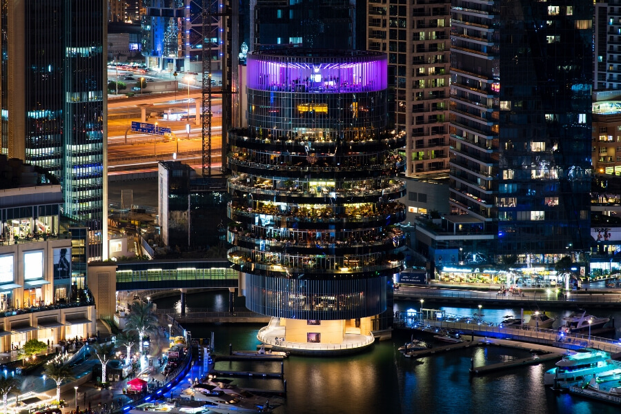 Pier 7 in Dubai marina home to some of the Dubai's best rooftop bars