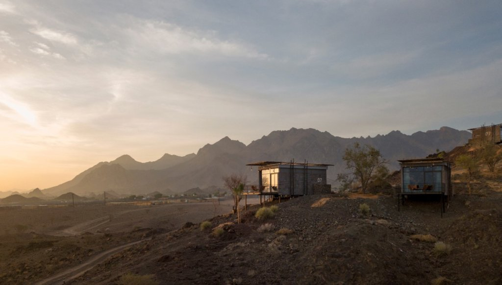 Trailer cabins in the Hatta Mountains