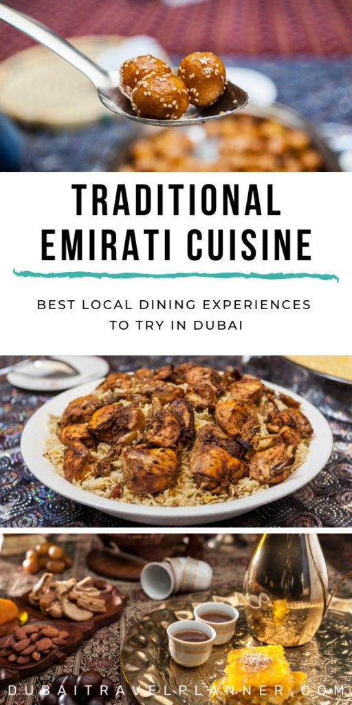 Traditional Emirati Cuisine - Dining Experiences in Dubai with example Emirati Dishes